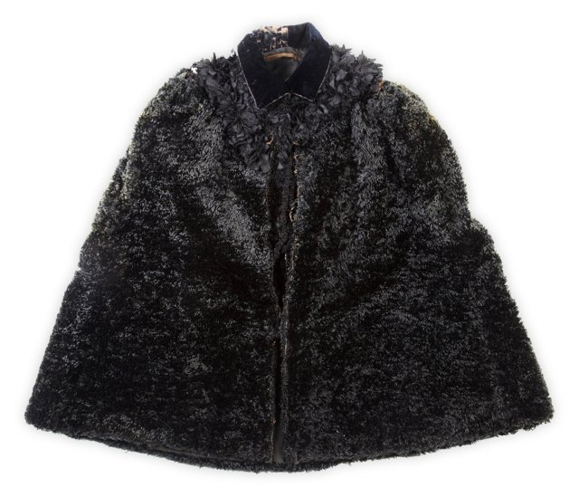 Victorian Mohair Mourning Cape