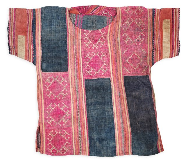 Antique Southeast Asian Embroidered Top