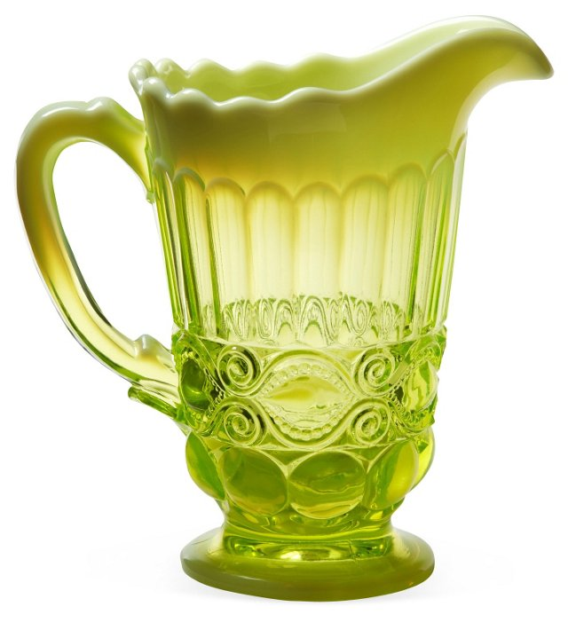 Mosser Glass Co. Opalescent Pitcher