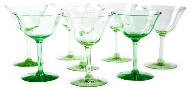 1920s Tiffin Sorbet Glasses, Set of 8