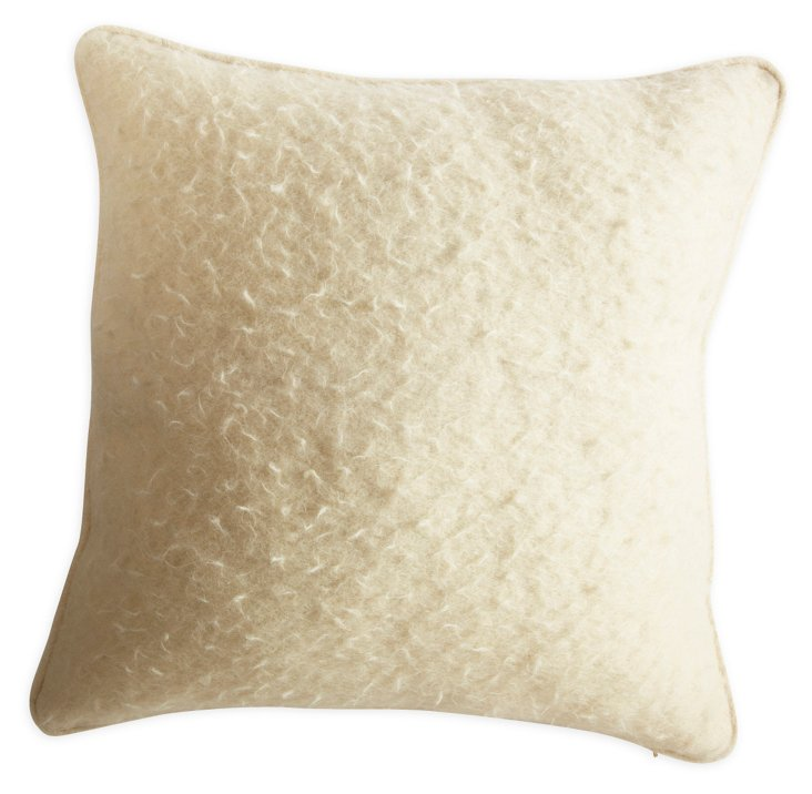 Cream Infiltrated-Wool Pillow