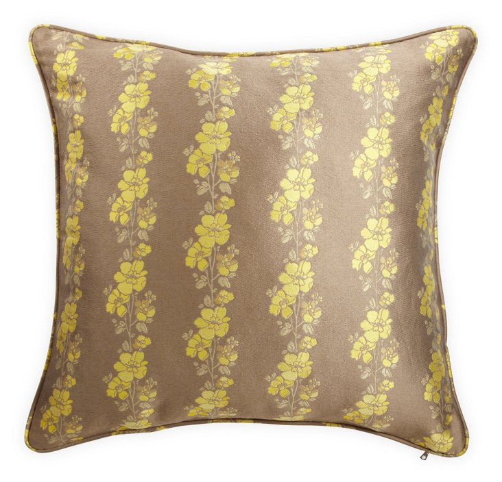 Lemon Wallpaper Jacquard Pillow
