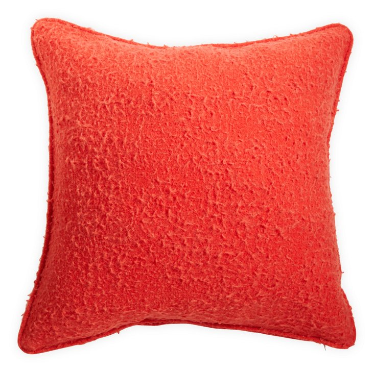 Poppy Infiltrated-Wool Pillow