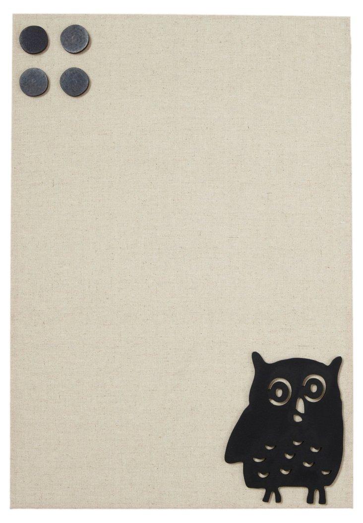 Medium Fabric Magnetic Board, Owl