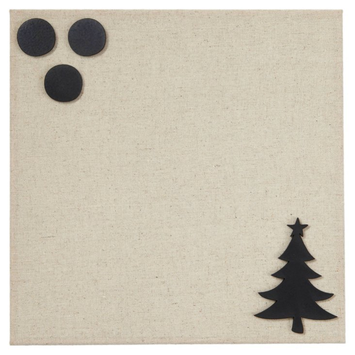 Fabric Magnetic Board, Christmas Tree