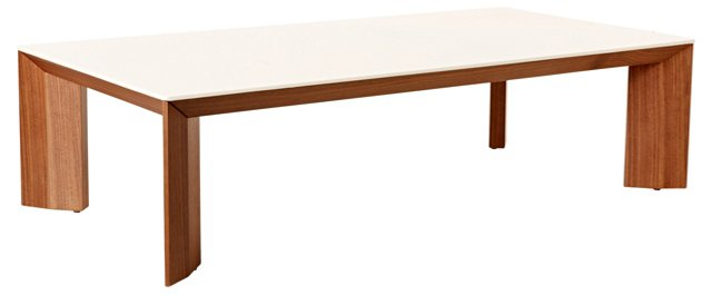 Apollo Coffee Table, White/Walnut
