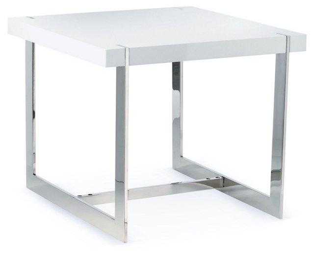 Lynn Modern Side Table, White