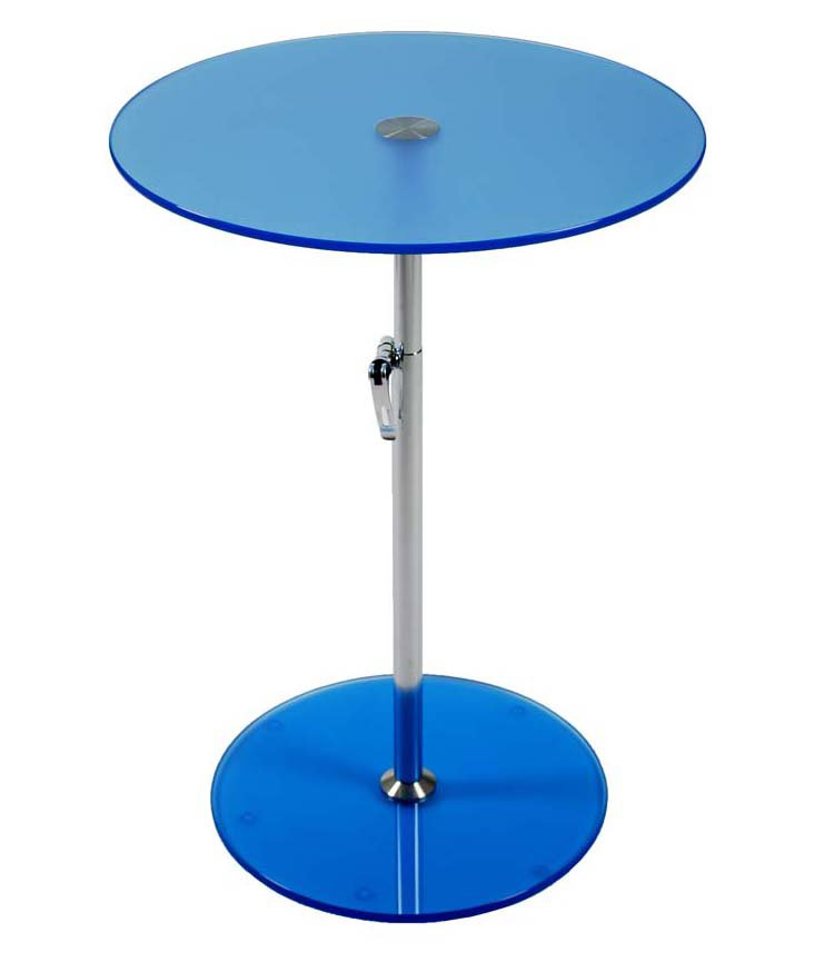 Radinka Adjustable Side Table, Blue