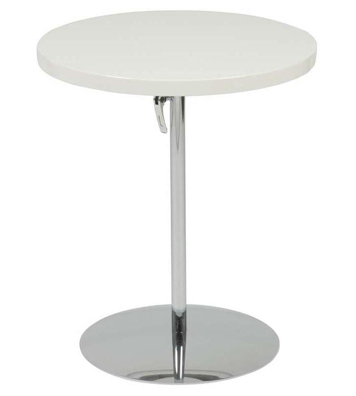 Raymond Adjustable Side Table, White