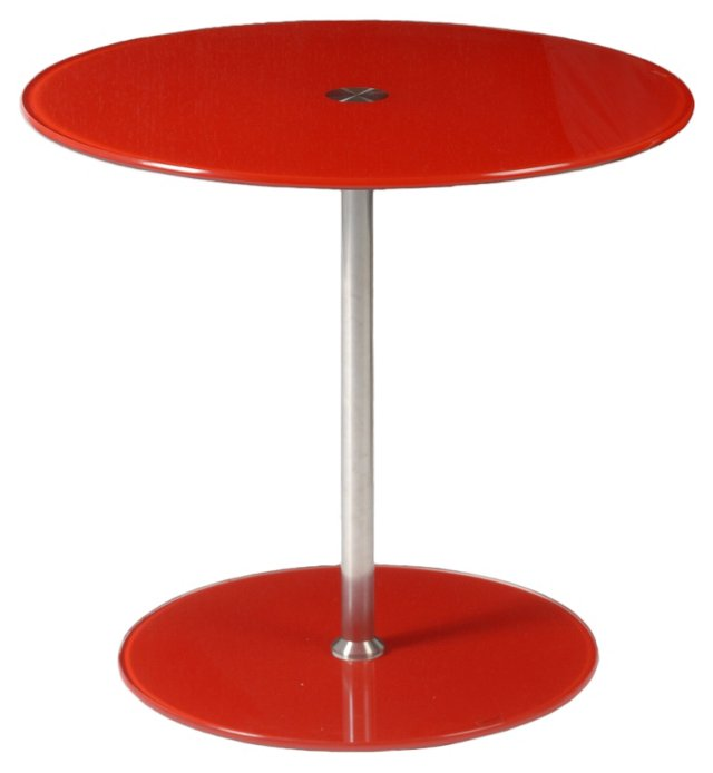 Emilio Side Table, Red