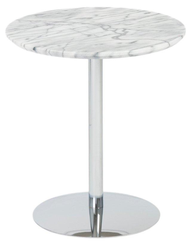 Erik Marble Side Table, Chrome