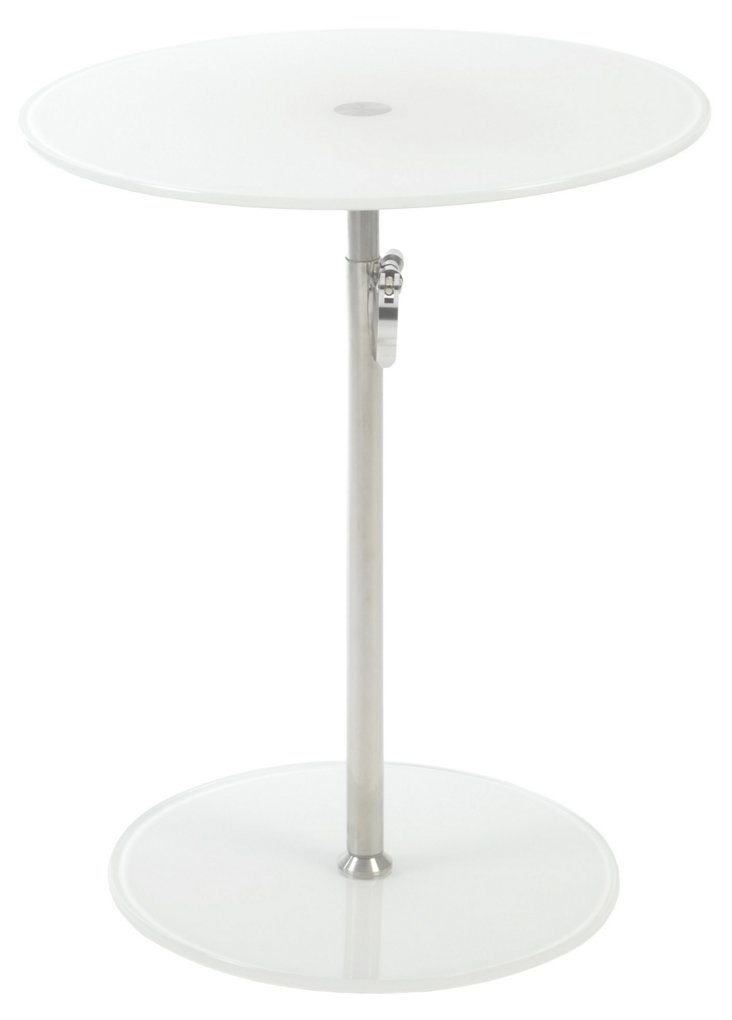Radinka Adjustable Side Table, White