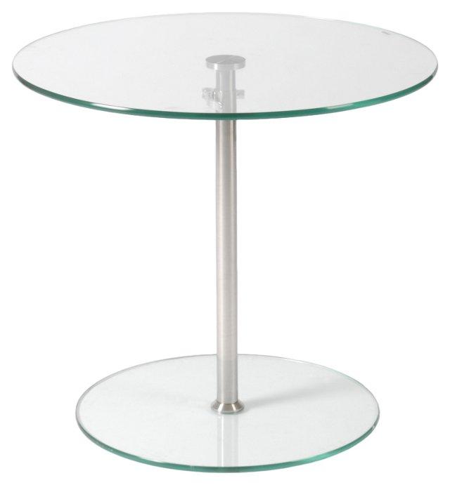 Emilio Adjustable Side Table, Silver