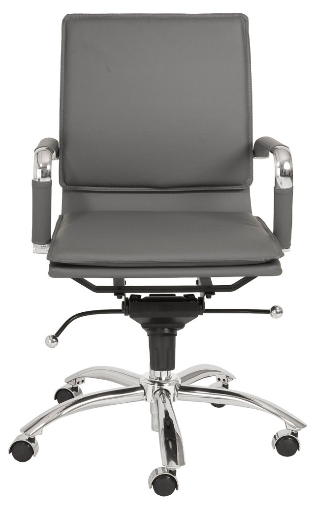 Harvey Office Chair, Gray/Silver