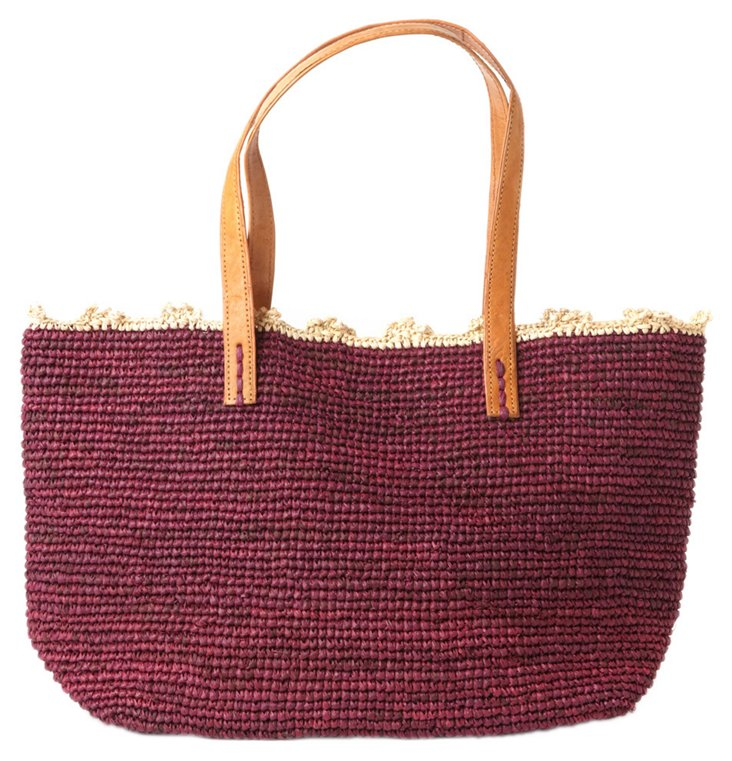 Shoulder Tote, Berry