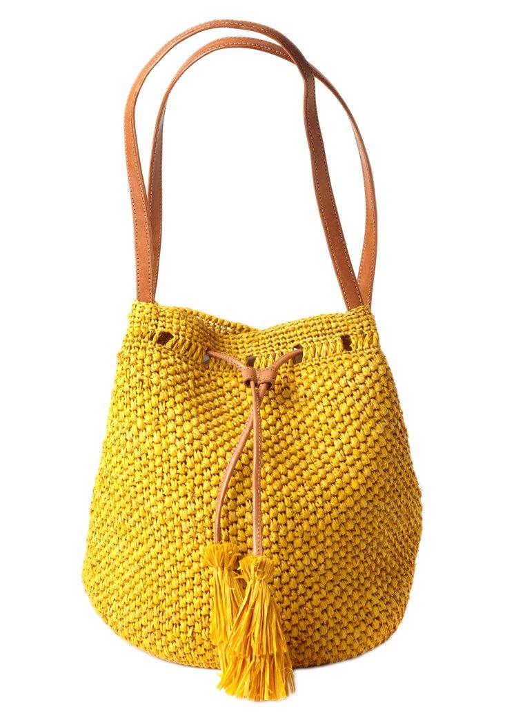 Crocheted Shoulder Bag, Sunflower