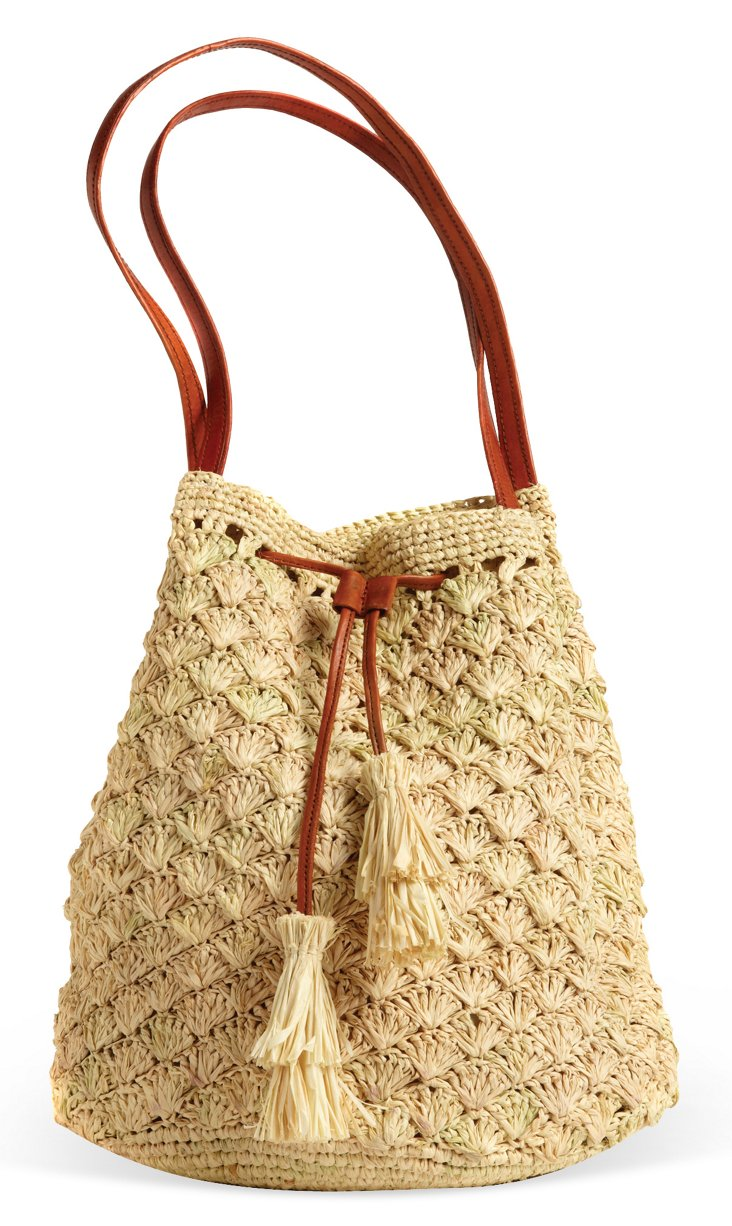 Solana Drawstring Tote, Natural