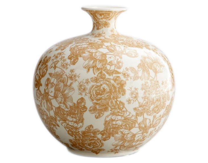 Toile Floral Vase