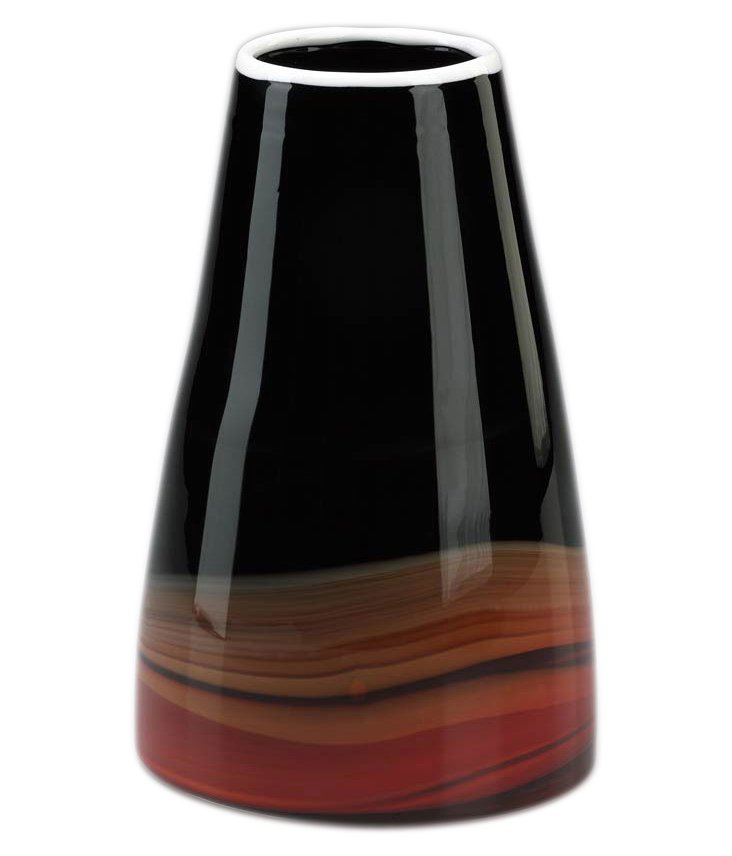 "10"" Deep Swirl Vase"