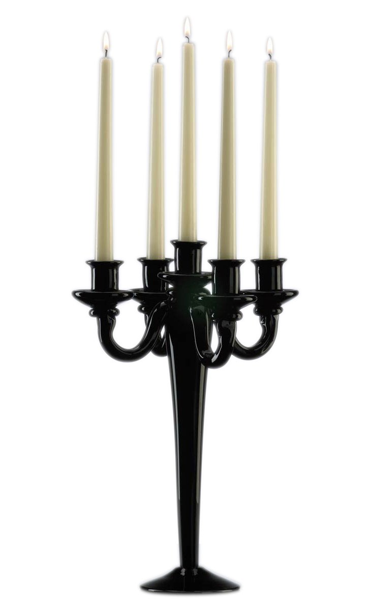 5-Light Candelabra, Black