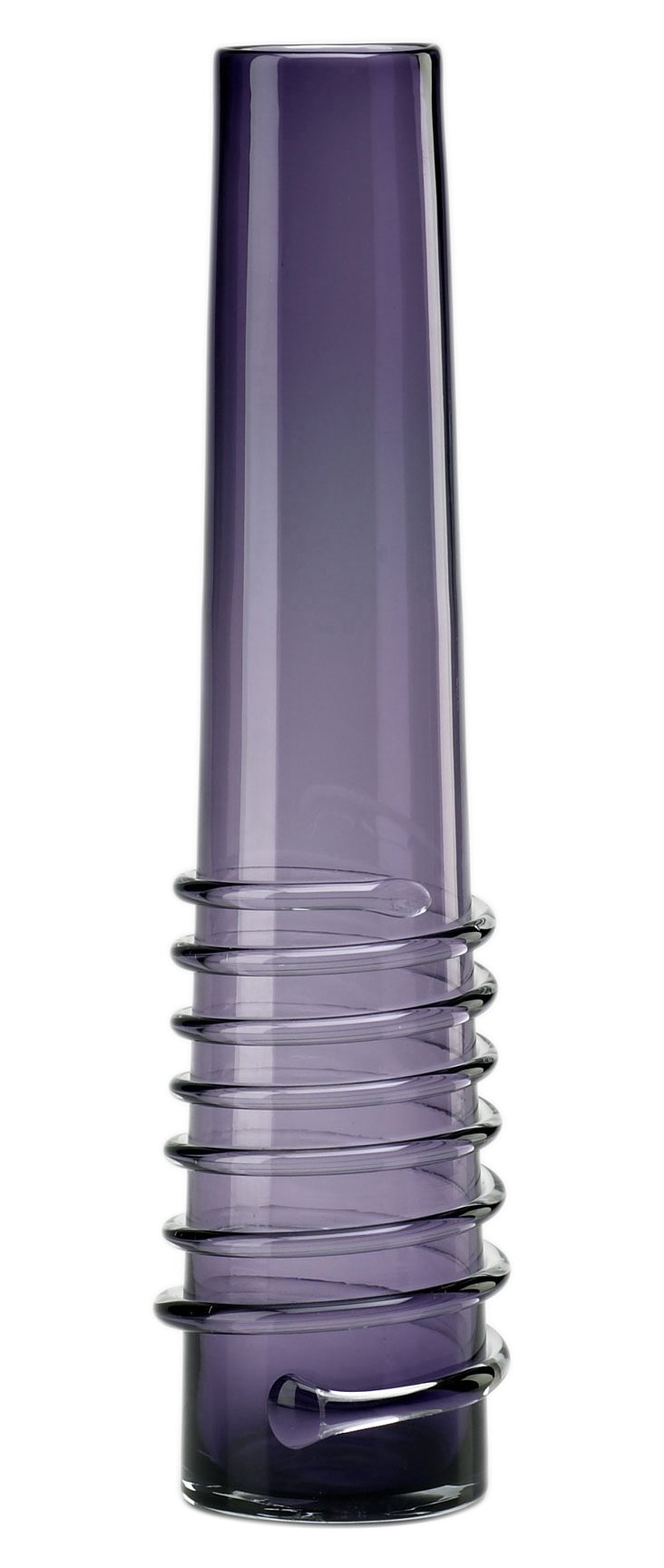 """19"""" Purple Spiral Vase"""
