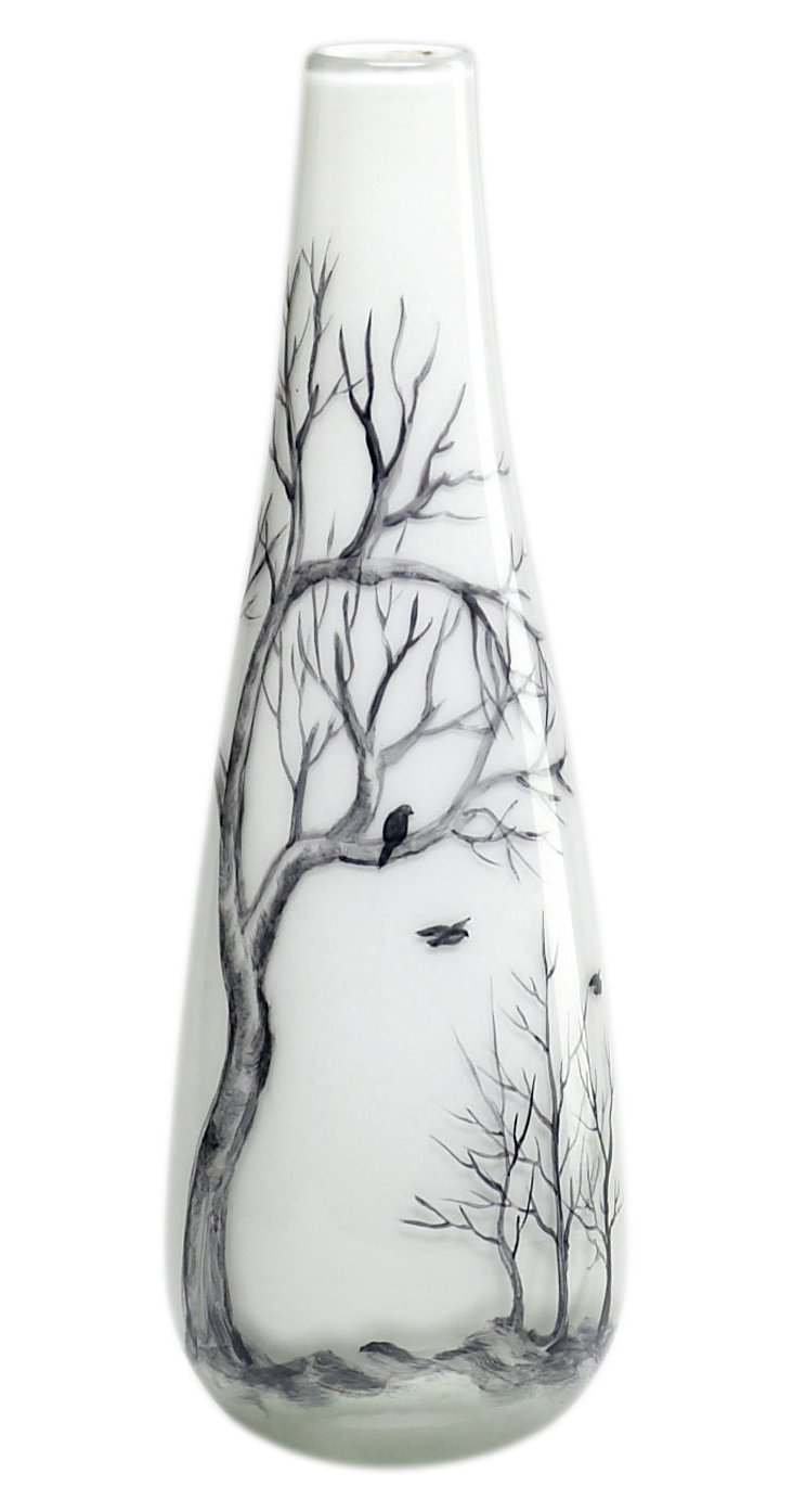 "12"" Winter Elm Vase"