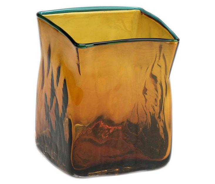 Blue Tip Quadrato Vase