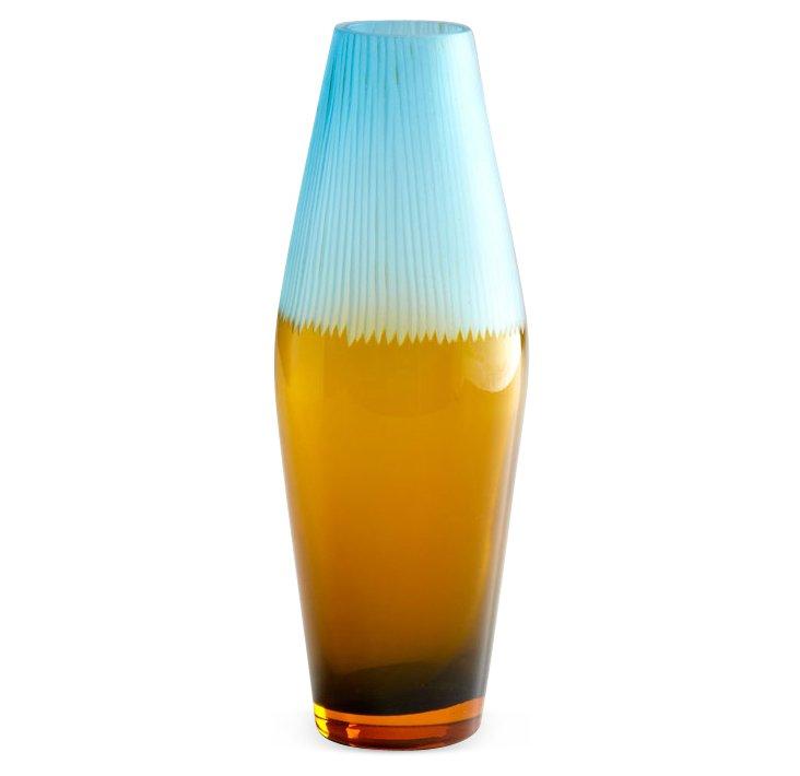 "16"" Chiseled Top Vase"