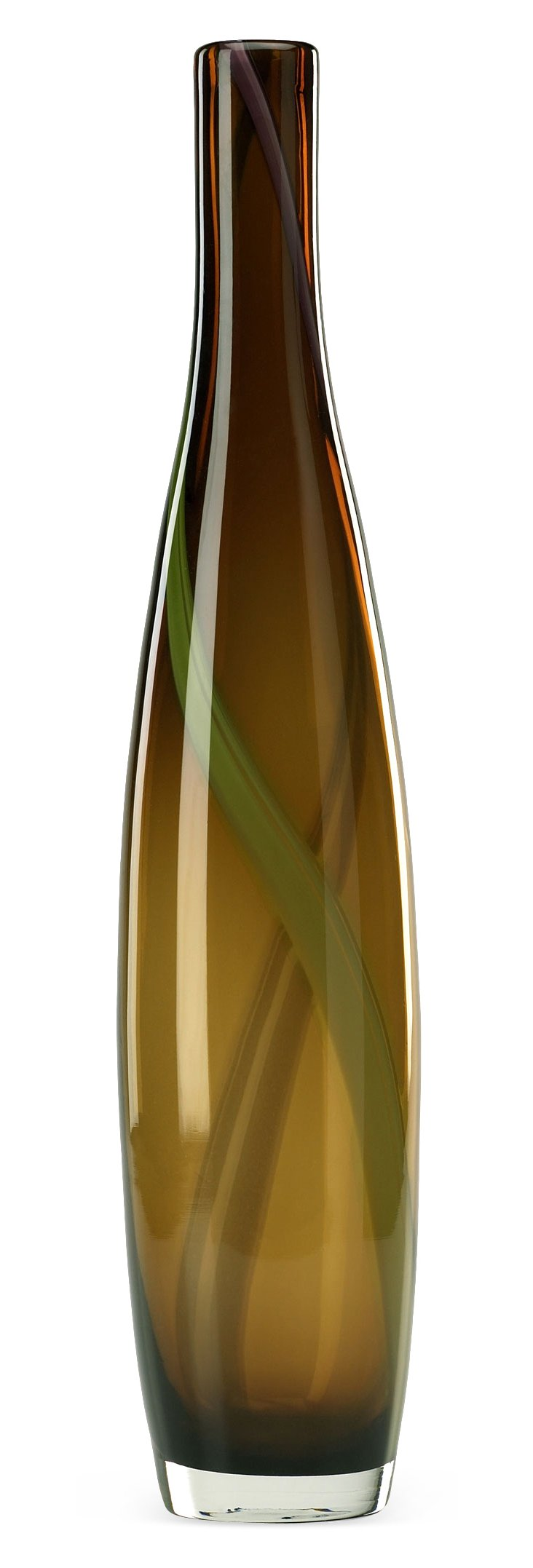 """25"""" Brown & Green Smoked Vase"""