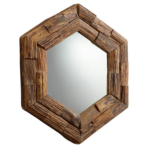 Frontier Wall Mirror, Brown