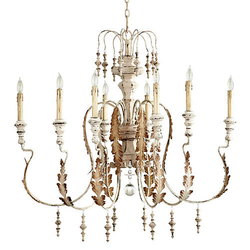 Motivo Chandelier, Persian White