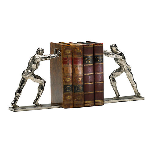 S/2 Iron Man Bookends, Silver