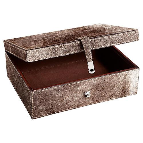 """11"""" Lucas Cigar Box, Gray"""