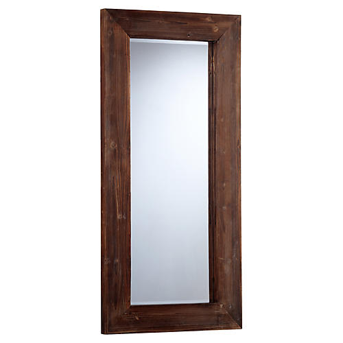 Ralston Wall Mirror, Charred Pine