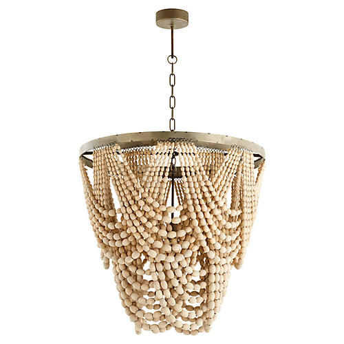 Hammock Large Pendant, Raw Iron/Beige