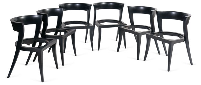 Modern Dining-Chair Frames, Set of 6