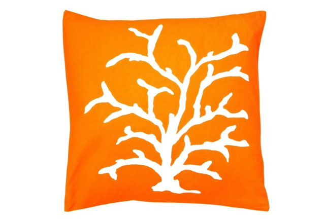 """22"""" Persimmon Coral Pillow"""