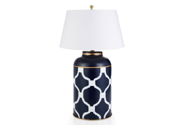 Deuce Tea Caddy Lamp, Navy