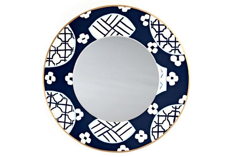 """Canton 24"""" Round Mirror, Navy"""