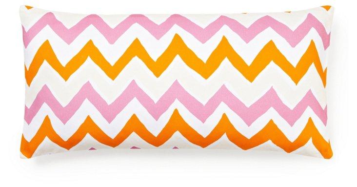 Bargello 12x24 Lumbar Pillow, Pink
