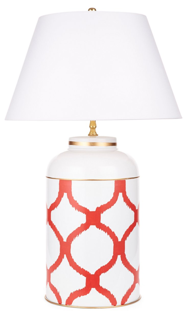 Deuce Tea Caddy Lamp, Orange