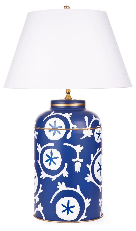 Ramoshka Tea Caddy Lamp, Navy