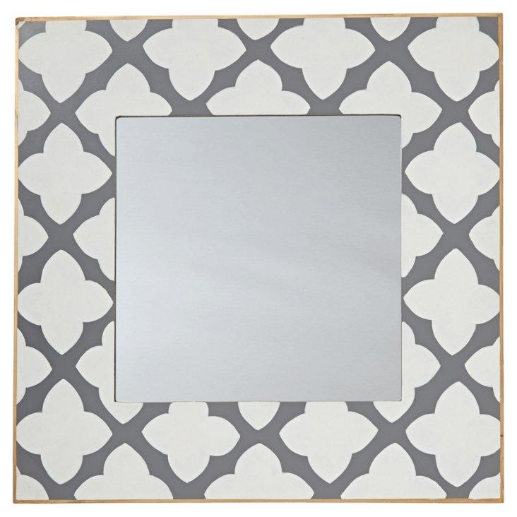 Quatrefoil Mirror, Gray