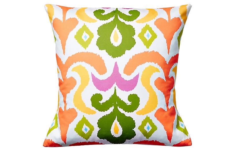 Ikat 22x22 Pillow, Multi