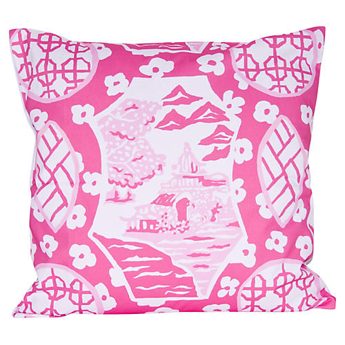 Canton 22x22 Pillow, Pink