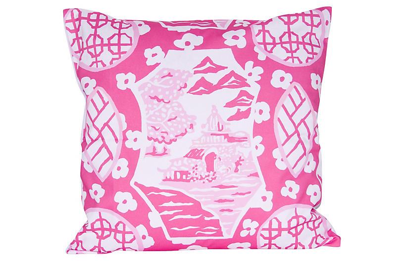 Canton 22x22 Pillow, Pink
