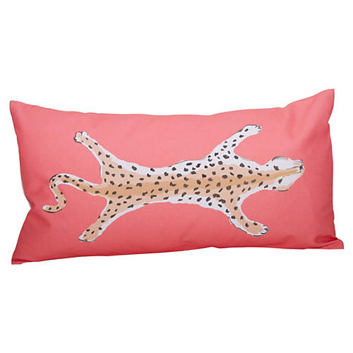 Leopard 12x24 Pillow, Orange