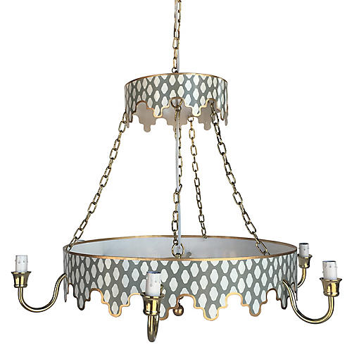 Parsi Two-Tiered Chandelier, Gray