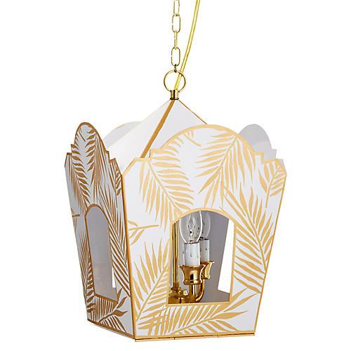 Mod Lantern, Gold Palm