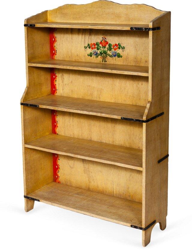 Monterey Straw Ivory Bookcase